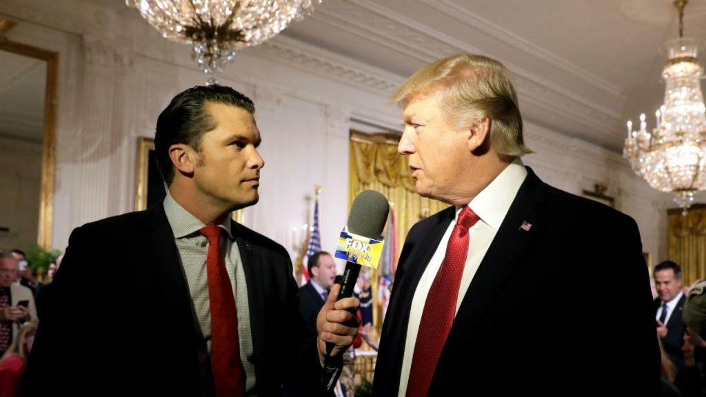 Pete Hegseth e Donald Trump