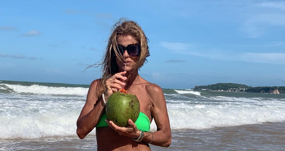 Bibá Pitta de férias no Brasil