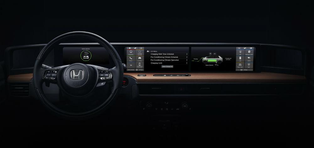 Interior do Honda elétrico