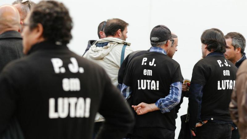 Manifestação de funcionários da Polícia Judiciária