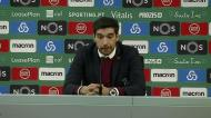 Abel Ferreira e a surpresa pelo novo esquema tático do Sporting