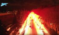 VÍDEO: a incrível receção dos adeptos ao autocarro do Zenit