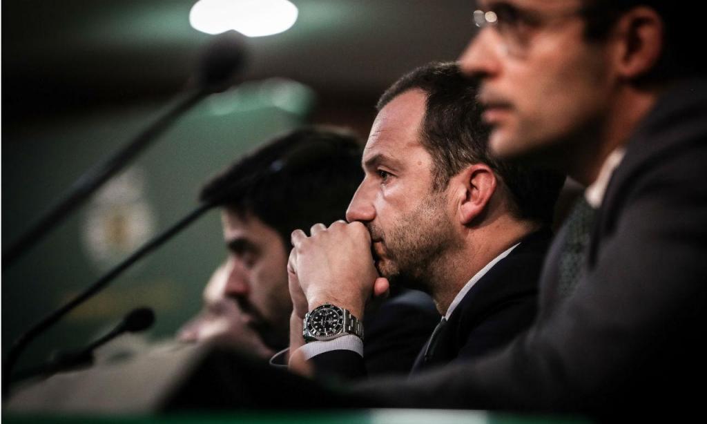 Conferência de imprensa do Sporting (Lusa)