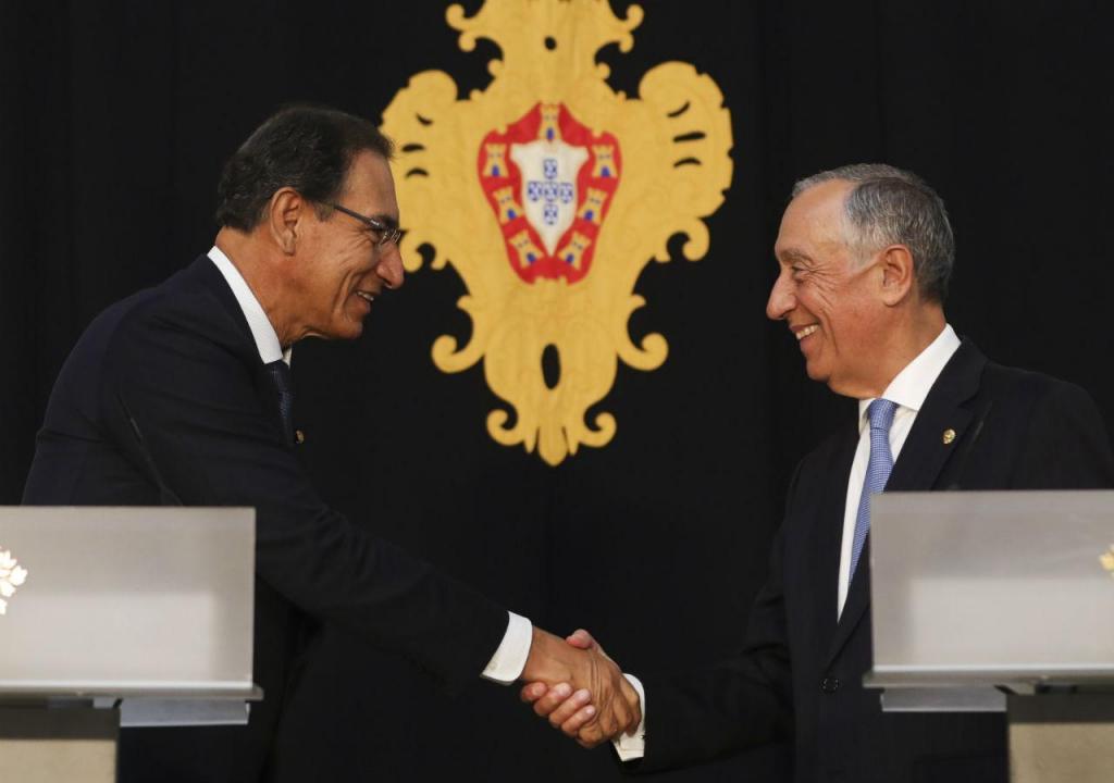Marcelo Rebelo de Sousa e  Martin Vizcarra