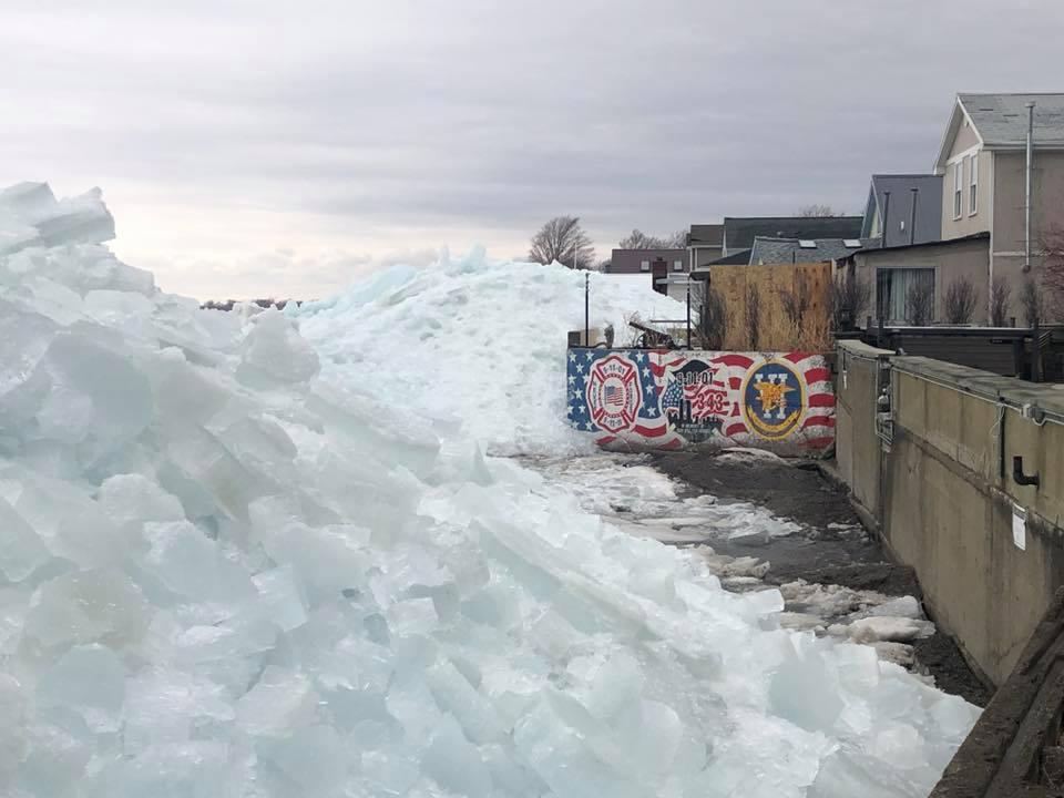 Paredes de gelo em Ontário