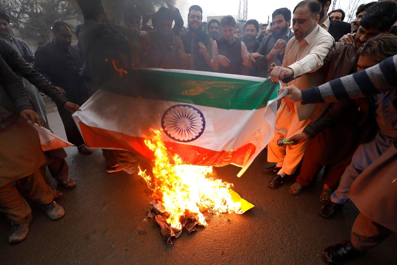 Protesto em Caxemira
