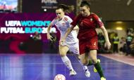 Carla Vanessa no Europeu de Futsal Feminino (JOSE COELHO/LUSA)