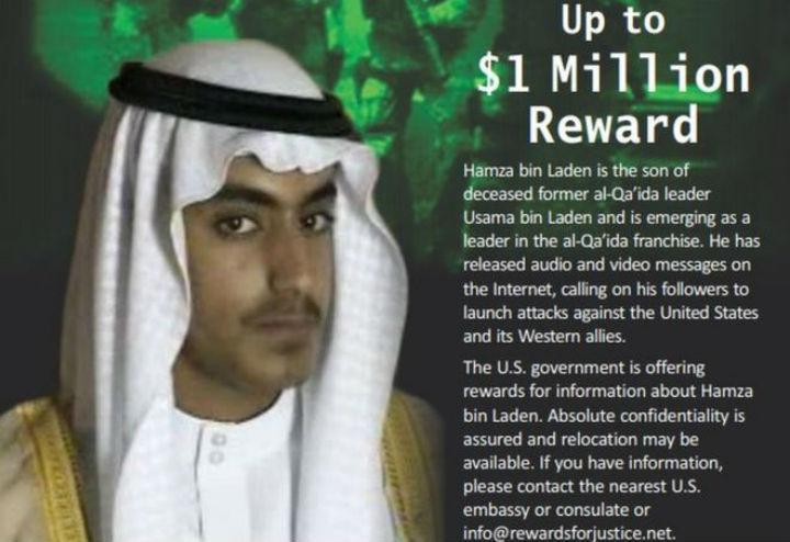 EUA oferecem um milhão por informações sobre filho de Osama Bin Laden