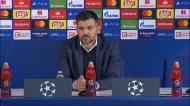 Conceição respondeu a uma pergunta e deixou a conferência de imprensa