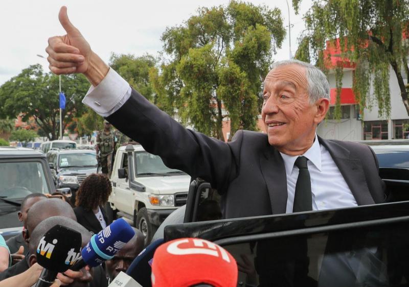 Marcelo Rebelo de Sousa em Luanda