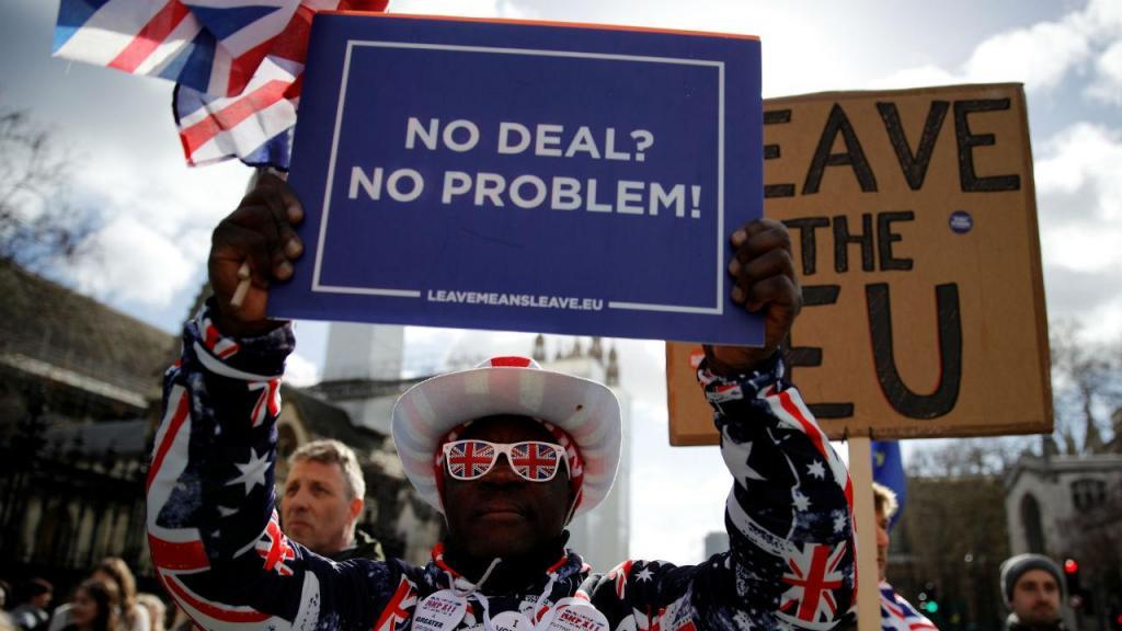 Manifestação a favor do Brexit