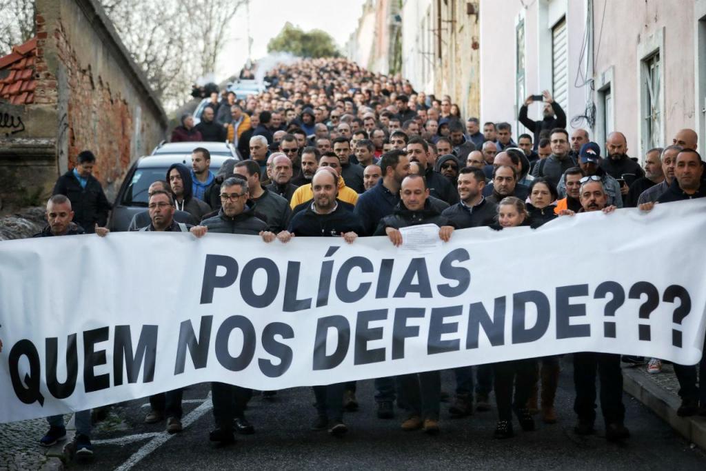 Manifestação de polícias em Lisboa