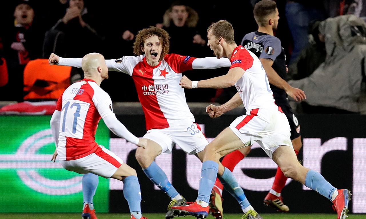 Liga Europa  Slavia Praga arruma Sevilha com 4-3 no prolongamento 87ea6e530d3