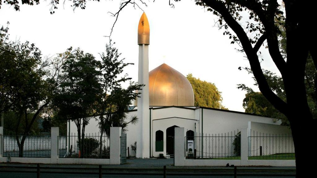 Uma das mesquitas onde houve um ataque, na Nova Zelândia
