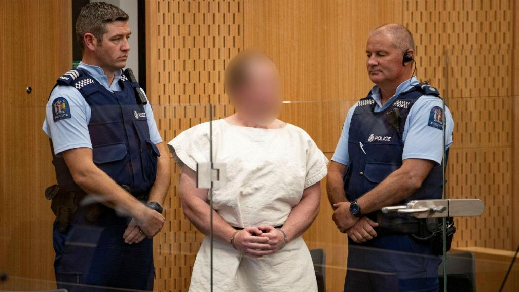 Brenton Tarrant durante o primeiro interrogatório