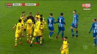 A expulsão caricata de Ibisevic na vitória do Dortmund