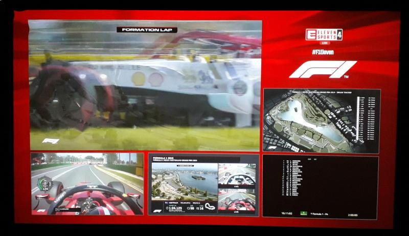 Transmissão TV do GP da Austrália de F1