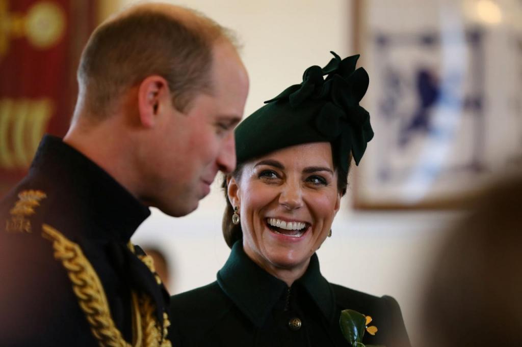 Kate Middleton e príncipe William celebram o St. Patrick's Day