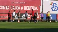 Treino do Benfica à porta aberta