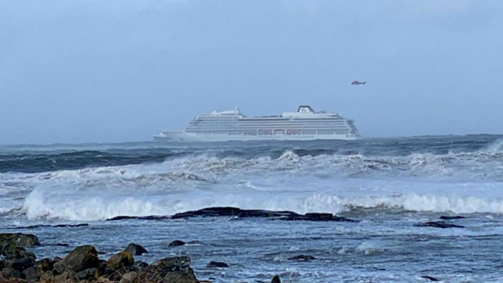 Navio evacuado na Noruega