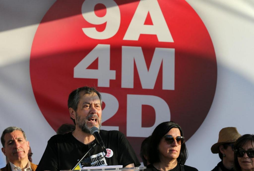 Mário Nogueira na manifestação de professores em Lisboa