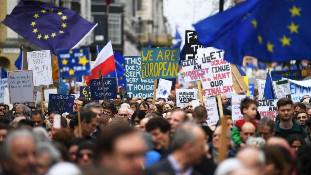 Manifestação em Londres a favor de novo referendo