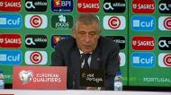Fernando Santos detalha conversa com o árbitro na cabine