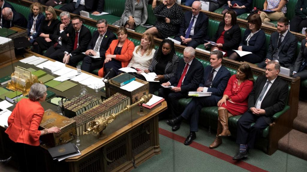 Theresa May na Câmara dos Comuns