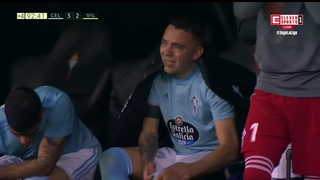 Iago Aspas chorou após «bis» no Celta-Villarreal