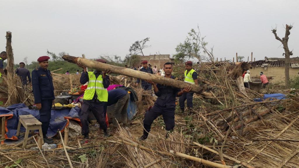 Tempestade no Nepal