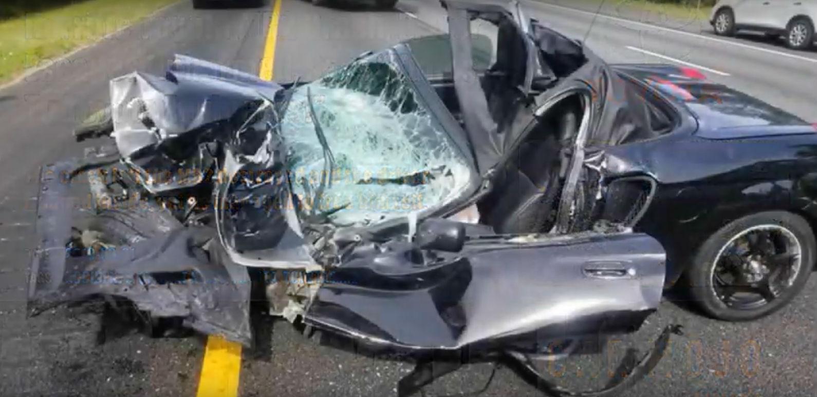 Toyota MR2 acidentado (reprodução YouTube