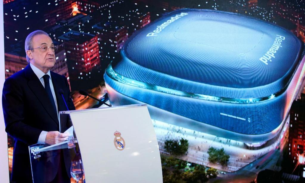 Florentino Perez apresenta o novo Bernabéu