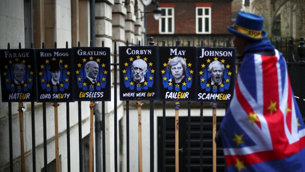 Manifestação pró-Brexit