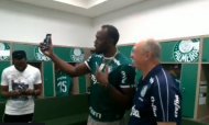 Bolt visitou Palmeiras (twitter)
