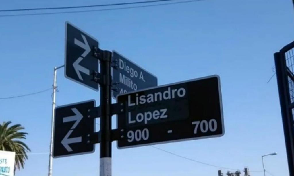 Rua Lisandro López, na Argentina