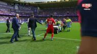 O momento em que Antunes se lesiona no Valladolid-Getafe