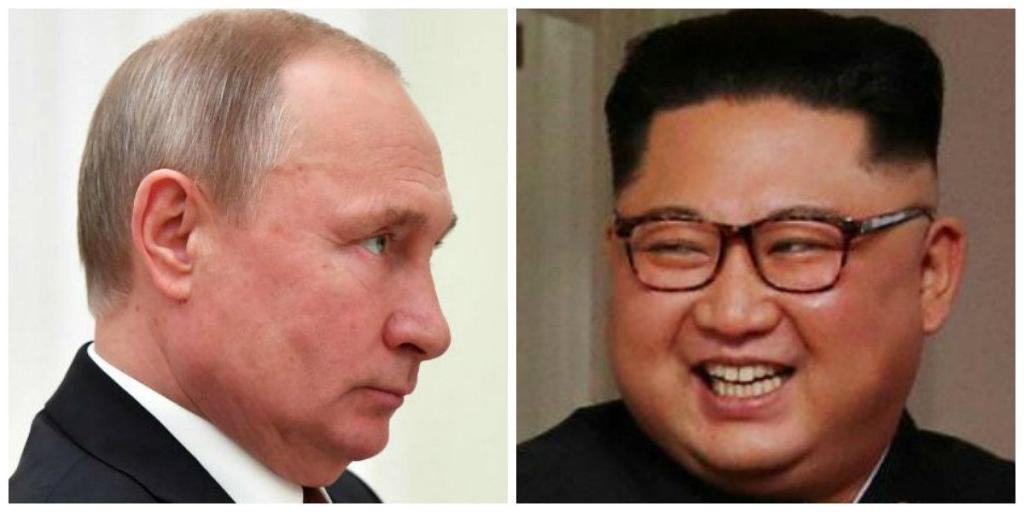 Vladimir Putin e Kim Jong-Un