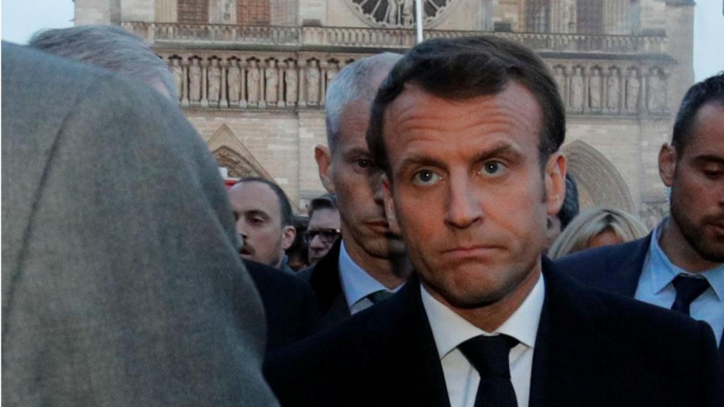 Macron em Notre-Dame