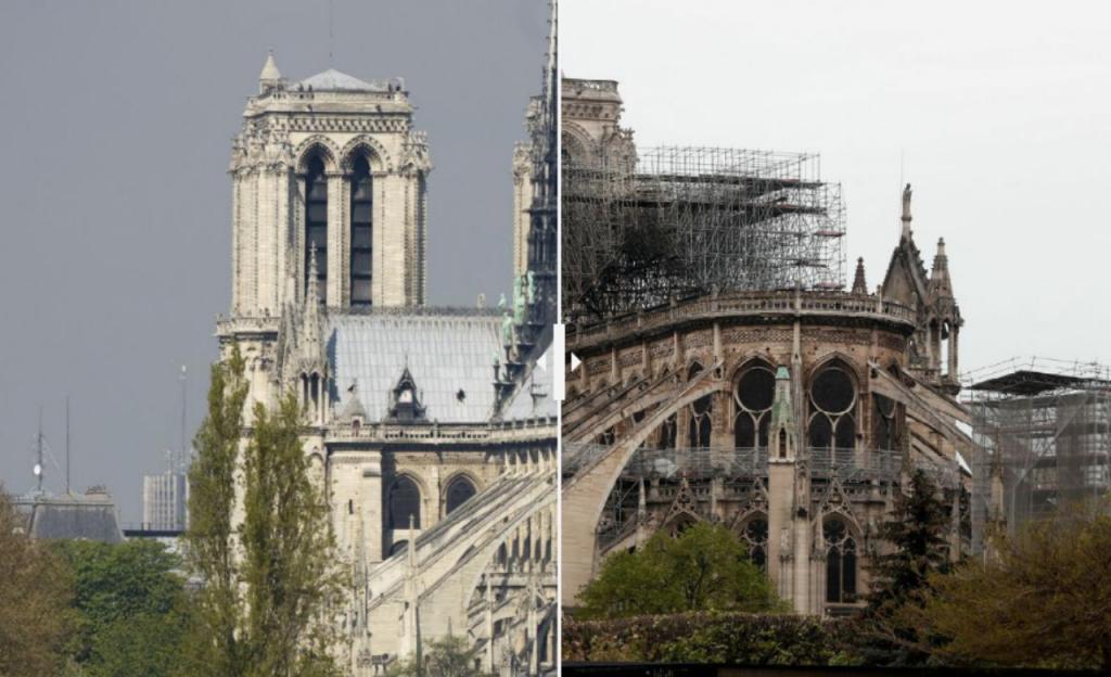 Catedral de Notre-Dame: antes e depois