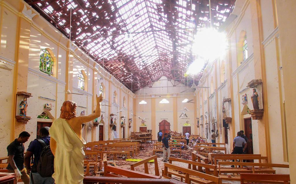 Uma das oito explosões no Sri Lanka foi nesta igreja de S. Sebastião, em Negombo, a 30 quilómetros de Colombo
