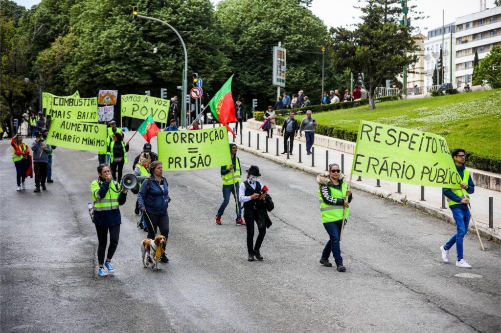 Protesto dos coletes amarelos em Lisboa