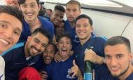 Zenit festeja título no avião (twitter)