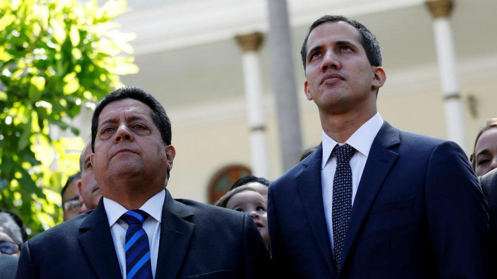 Edgar Zambrano e Juan Guaidó