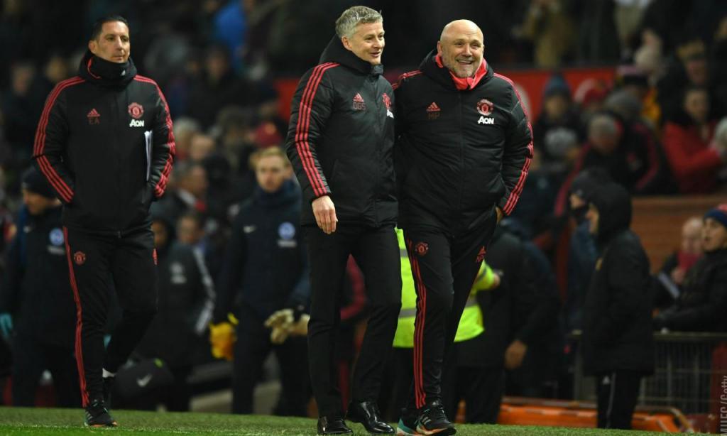 Mike Phelan e Ole Gunnar Solskjaer (foto Manchester United)