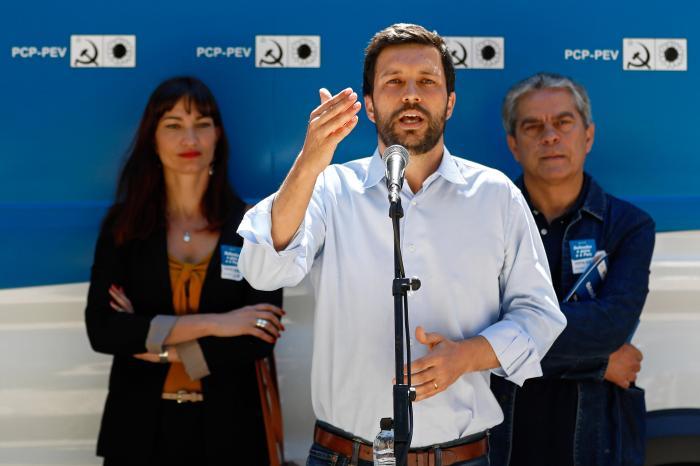 João Ferreira (CDU) em campanha para as europeias