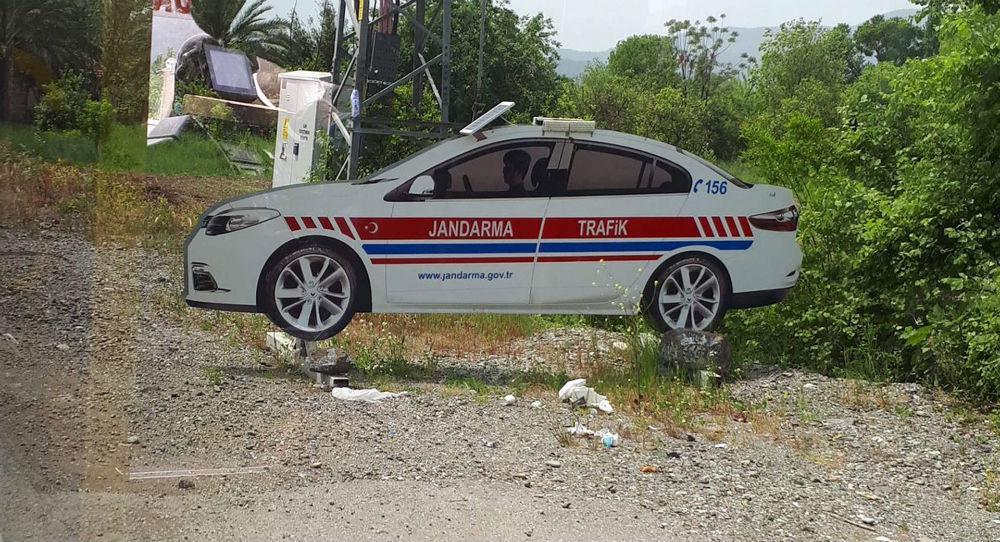 Carro de cartão da polícia na Turquia
