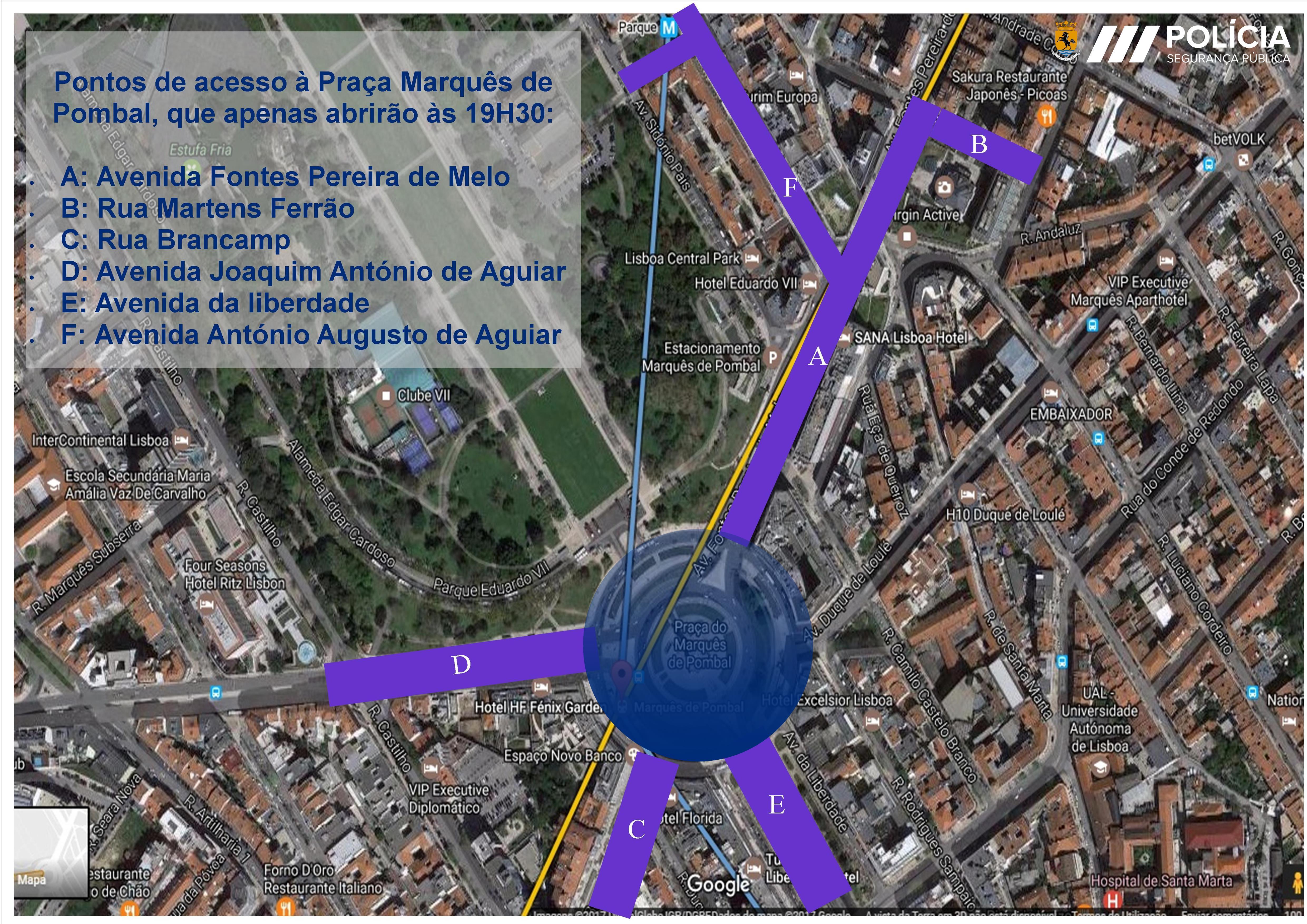 Condicionamentos de trânsito em Lisboa