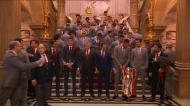 Benfica: a foto da praxe na escadaria da Câmara de Lisboa