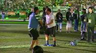 Alvalade: Paulinho subiu ao relvado e... tropeçou