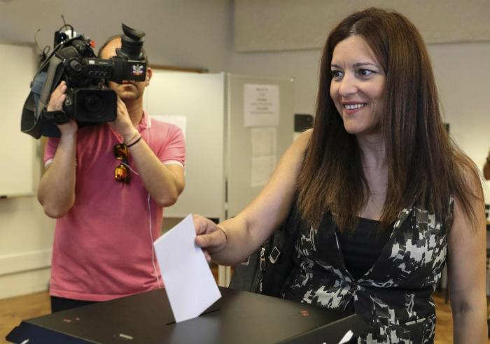 Marisa Matias vota para as eleições europeias